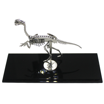 Oviraptor Dinosaurs 3D Steel Metal DIY Joint Mobility Miniature Model Kits Puzzle Toys Educational Boy Splicing Hobby Building