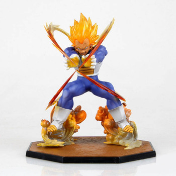 Anime Dragon Ball Z Süper Saiyan Vegeta Savaş Devlet Final Flaş PVC Action Figure Koleksiyon Model Oyuncak 15 CM