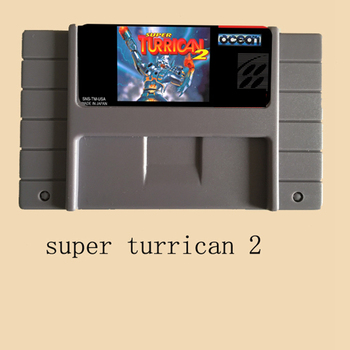 Super turrican 2 16 bit Big Gray Game Card For NTSC Game Player