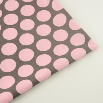 Home Textile Big Pink Dot Cotton Fabric Quilting Sewing Cloth Tecido Patchwork Craft Bedding Decoration Tissue Teramila Fabrics