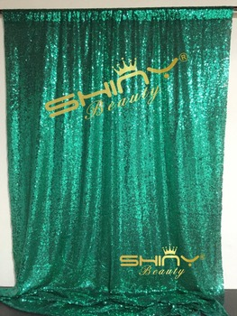 ShinyBeauty 3FTX10FT-Sequin Perde-Backdrop-Yeşil, Glitz Düğün Perde Arka Plan, töreni Photo Booth Backdrop-bir