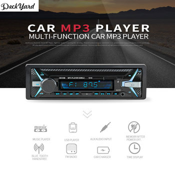 DeckYard 1010 Araba Stereo Çalar Hoparlör Kablosuz BT AUX USB RDS MP3 Audio Player Automagnitola Araba Radyo Stereo Media Player