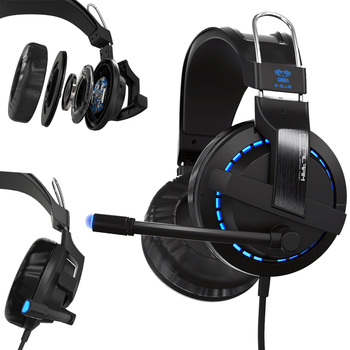 HL USB 7.1 Surround Stereo Gaming Headset Kafa Kulaklık için Mic ile PC oct13