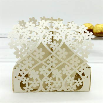 120PC/lot 43 Color Laser cut Snowflake Laser Lover Heart candy box wedding favor box party supplies wedding favors and gifts